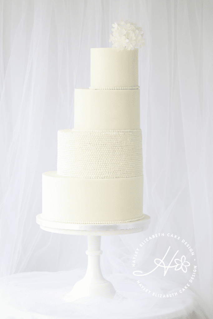 Elegant wedding cakes from Hayley Elizabeth Cake Design, geometric wedding cake, wedding cake inspiration, luxury wedding cake, all white wedding cake, textured wedding cake, abstract wedding cake, modern wedding cake