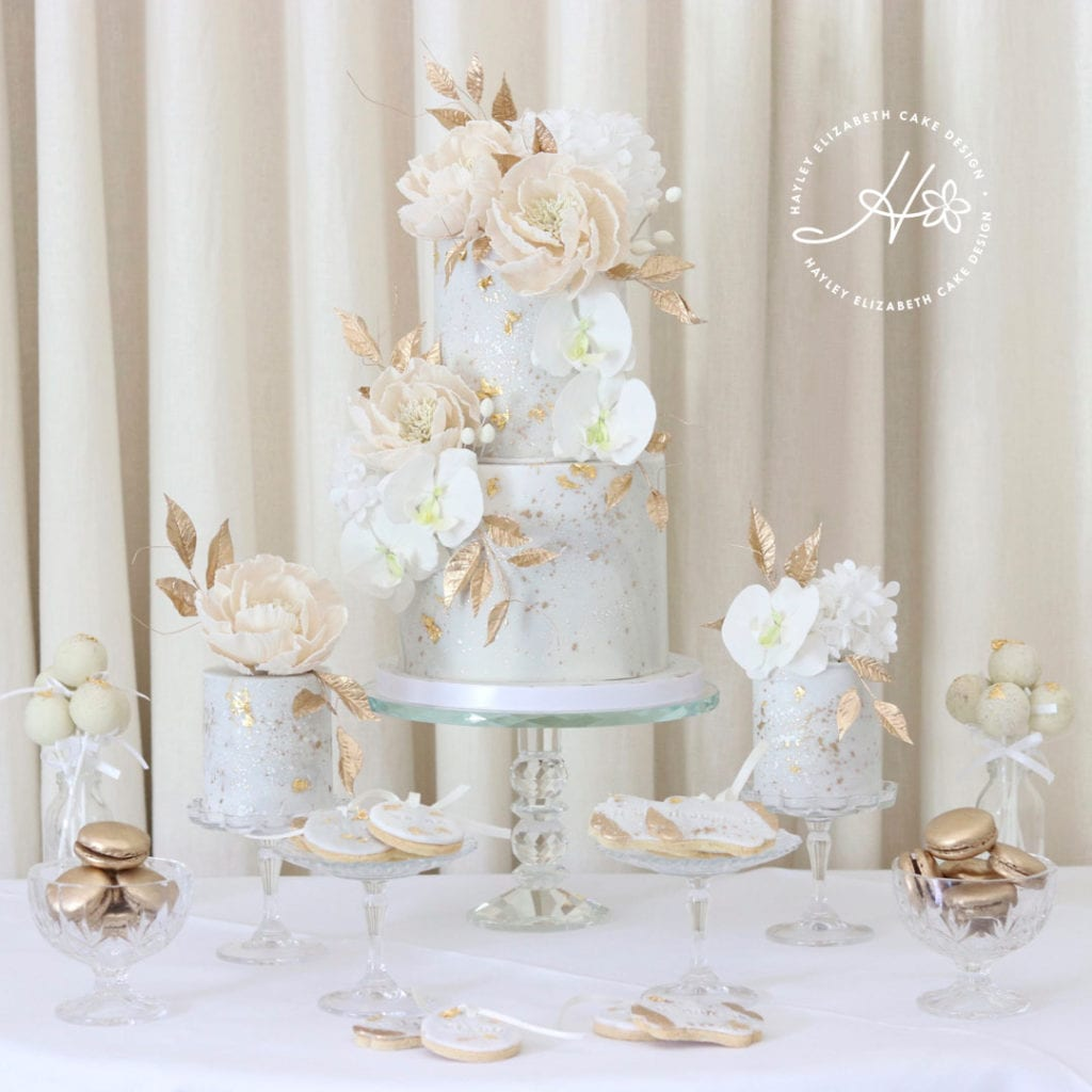 Elegant Wedding Cake Dessert Table Inspiration: Dessert Tables By Hayley Elizabeth Cake Design