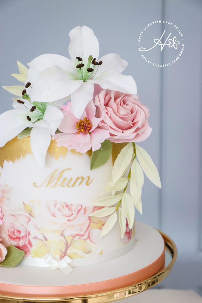Feminine birthday cake, peach birthday cake, blush birthday cake, floral cake, elegant birthday cake, pastel cake, luxury birthday cake, painted birthday cake, sophisticated birthday cake, elegant wedding cakes