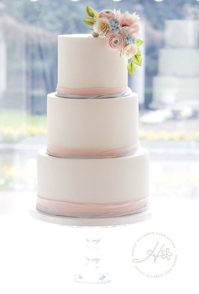 Spring wedding cake, summer wedding cake, elegant wedding cakes, luxury wedding cake, spring wedding ideas, spring wedding england, pastel wedding cake, simple wedding cake, sugar flower wedding cake, hampshire wedding cake