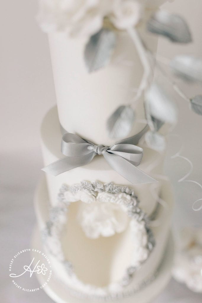 Luxury wedding cakes, elegant wedding cakes, dessert tables, white wedding cake, silver wedding cake, unique wedding cakes, dessert table ideas, hampshire wedding, surrey wedding, wedding cake inspiration, wedding cake ideas