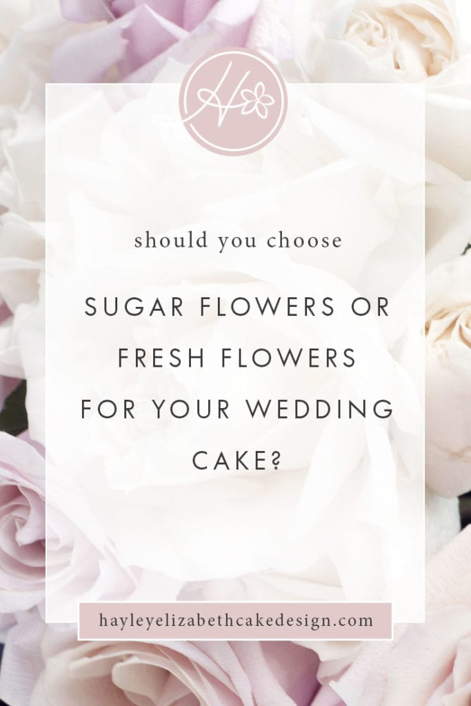 Should you choose sugar flowers or fresh flowers for your wedding cake, luxury wedding cake, summer wedding cake, winter wedding cake, wedding cake ideas, elegant wedding cake